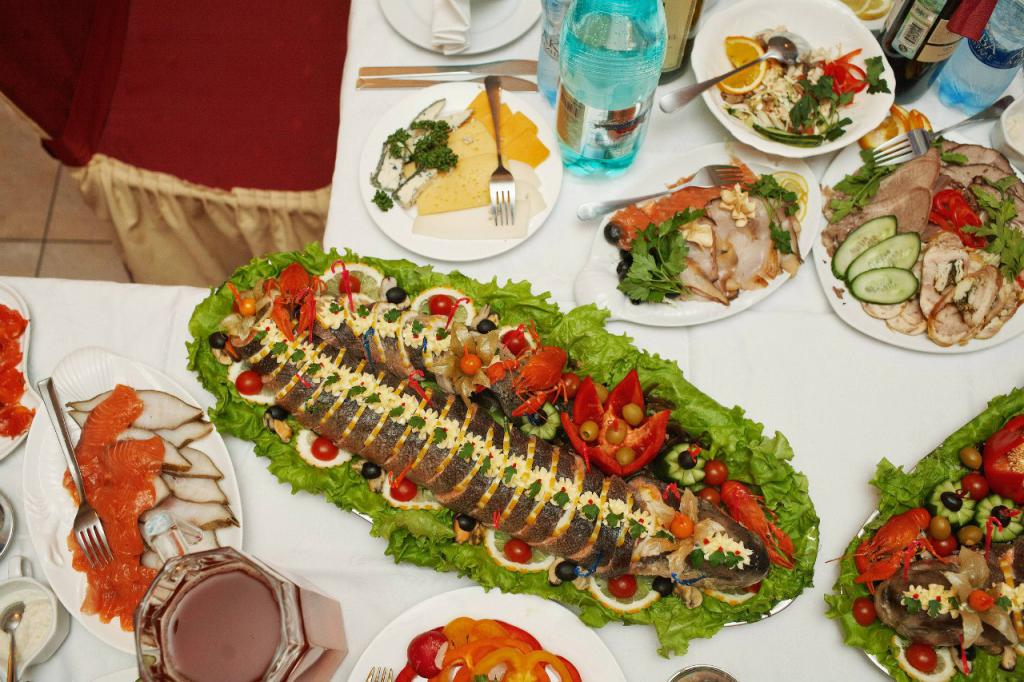 Оформление банкетных блюд фото